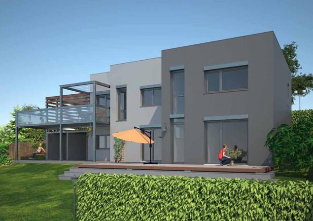 Projekt rodinný dům ve svahu s přístřeškem a pergolou, 501 č.1