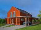 Projekt dřevostavby s podkrovím 5+kk pro úzké pozemky, 045