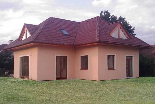Projekt bungalovu s podkrovím 5+1, velký obytný prostor, 047 č.1
