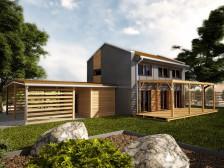 Projekt rodinný dům 5+1 / kk, možno také pasivní dům,506