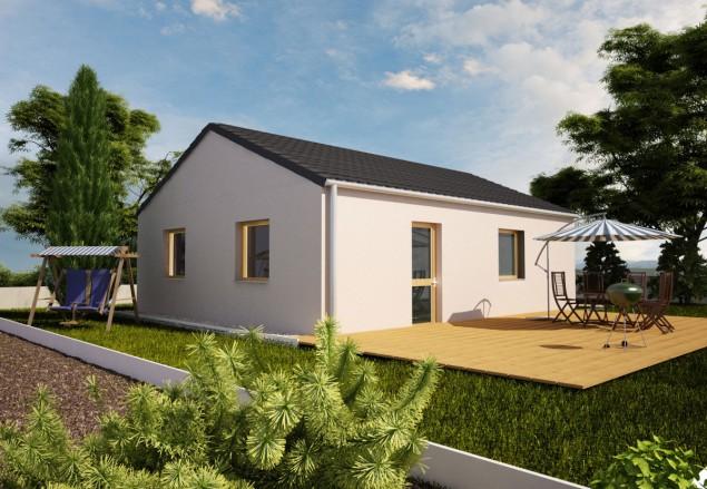 Projekt bungalovu, přízemní dům 2+kk, 902 č.1