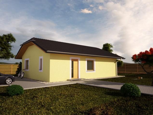 Varianta s pultovou střechou