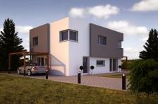 Projekt dřevostavby 6+1, možno jako pasivní dům, 061