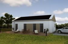 Projekt moderní bungalov 5+1 / kk, možnost jako pasivní, 910