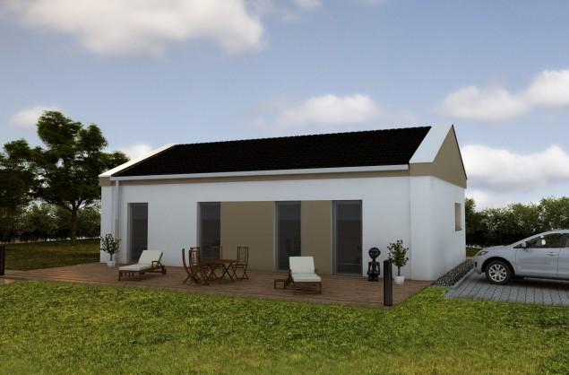 Projekt dřevostavby bungalovu 5+kk, také pasivní dům, RD 910 č.1