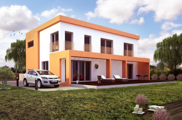 moderní patrový dům 5+kk s rovnou střechou a terasou, 062 č.1