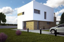 projekt patrový moderní rodinný dům s terasou u ložnic, 507