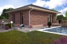 Projekt přízemního domu 3+kk s valbovou střechou, 800
