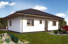 Projekt dřevostavba bungalovu 3+kk, levný RD 803