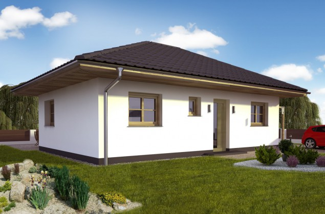 Projekt dřevostavba bungalovu 3+kk, levný RD 803 č.1