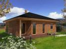 Projekt dřevostavby bungalovu 4+kk s krytou terasou, RD 906