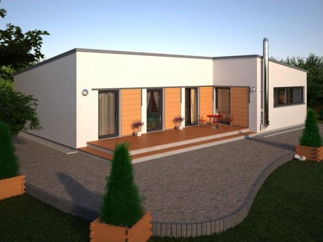 Projekt moderního bungalovu 4+kk se šatnami, RD 064 č.1