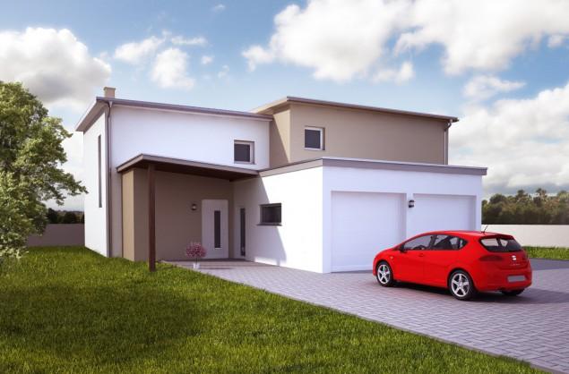Projekt dvojdomu 4/5+kk, možno jako pasivní dům, 508 č.1