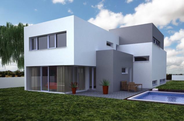 Projekt rodinného domu 6+kk s terasami a dvougaráží, 502 č.1