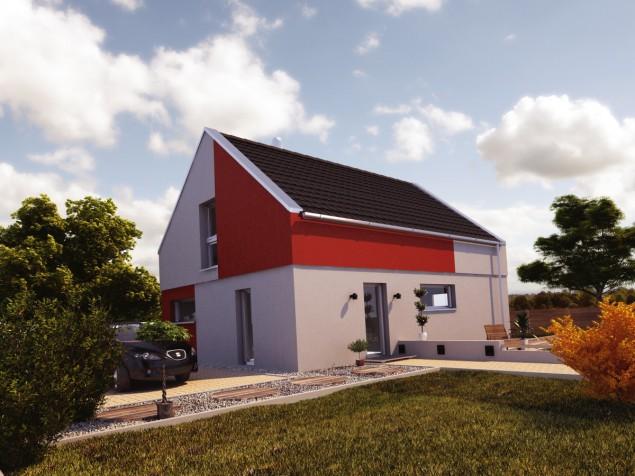 Projekt moderní podkrovní dřevostavby 5+kk, RD 905a č.1