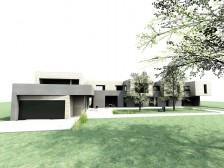 Studie moderního rodinného domu a sportovního klubu Háje