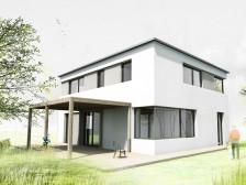 Studie zděného nízkoenergetického rodinného domu Plzeň