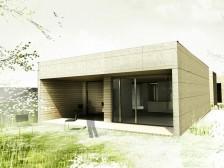 Nízkoenergetický dům bungalov na úzký pozemek Č.Budějovice