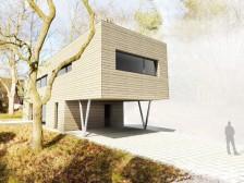 Moderní krásný pasivní dům 5+kk s rovnou střechou Praha