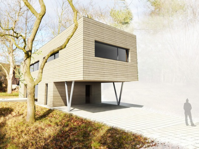 Moderní krásný pasivní dům 5+kk s rovnou střechou Praha č.1