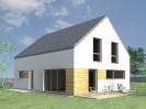 Pasivní rodinný dům vápenopískový se sedlovou střechou Plzeň