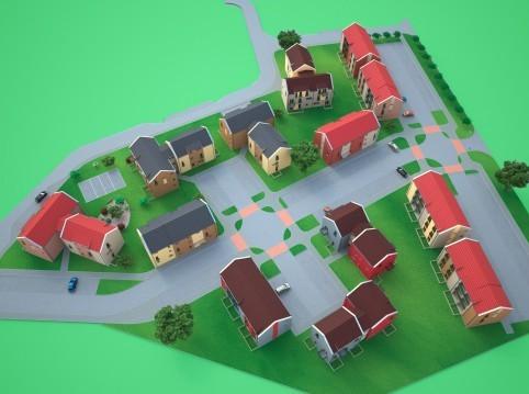 Projekty bytových domů - Zruč Senec