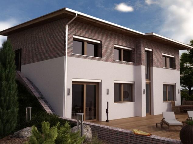Projekt rodinný dům do svahu 5+kk, možno i pasivní dům, 510 č.1