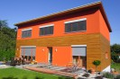 Pasivní dům s pultovou střechou, sklepem s garážemi Plzeň, dřevostavba č.5