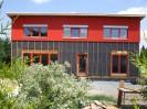 Pasivní dům s pultovou střechou, sklepem s garážemi Plzeň, dřevostavba č.6