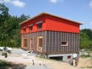 Pasivní dům s pultovou střechou, sklepem s garážemi Plzeň, dřevostavba č.7