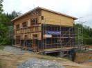 Pasivní dům s pultovou střechou, sklepem s garážemi Plzeň, dřevostavba č.8