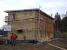 Pasivní dům s pultovou střechou, sklepem s garážemi Plzeň, dřevostavba č.9