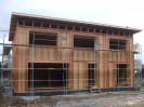 Pasivní dům s pultovou střechou, sklepem s garážemi Plzeň, dřevostavba č.10