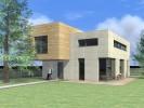 Studie moderního rodinného domu s rovnou střechou a galerií