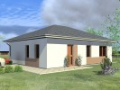 Projekt bungalovu 3+kk, bezbariérový, vstup na zahradu 808