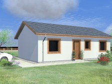 Projekt bungalovu 3+kk levný, možnost garáže, RD 809