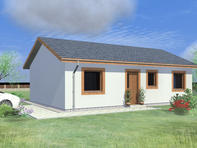 Projekt bungalovu č.2