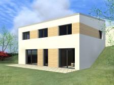 Pasivní dům ve svahu s pultovou střechou 5+kk Mělník