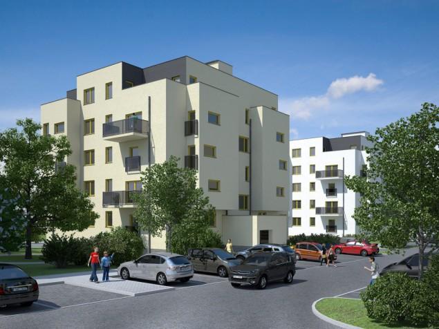 Projekty bytových domů - bytové domy Plzeň-Bolevec č.2