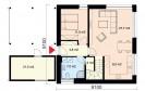 Pasivní dům 513 půdorys 1.NP