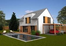 Projekt pasivního domu 5+kk se sedlovou střechou, RD 511