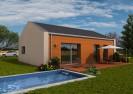 Projekt pasivního bungalovu 4+kk se sedlovou střechou,RD 514