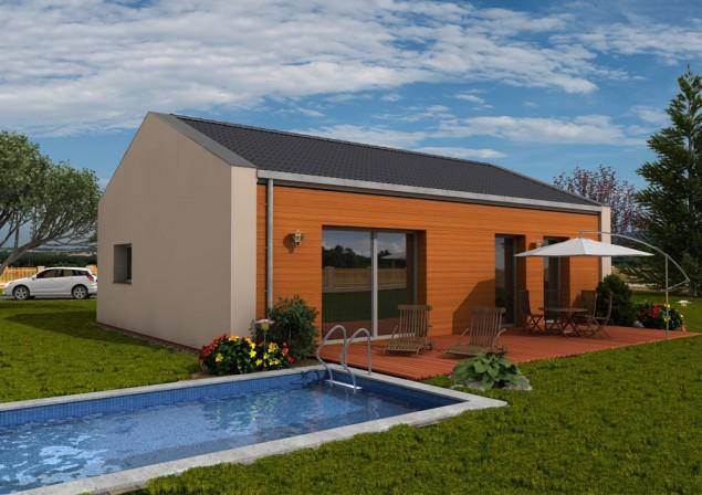 Projekt pasivního bungalovu 4+kk se sedlovou střechou,RD 514 č.1