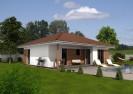 Projekt moderní dřevostavby bungalovu 3+kk, RD 806