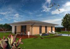 Projekt dřevostavby bungalovu 4+kk, RD 810