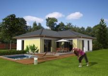 Projekt bungalovu 4+kk do L s valbovou střechou, RD 812