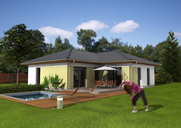 Projekt bungalovu 4+kk do L s valbovou střechou, RD 812 č.1