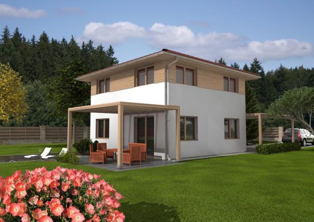 Projekt pasivního dvoupatrového rodinného domu, RD 813 č.1