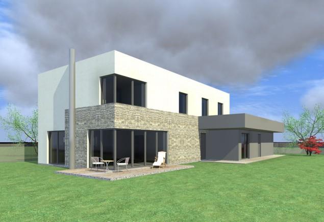 Moderní rodinný dům 7+kk s dvougaráží č.1