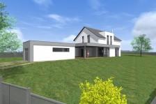 Moderní rodinný dům 4+kk se sedlovou střechou